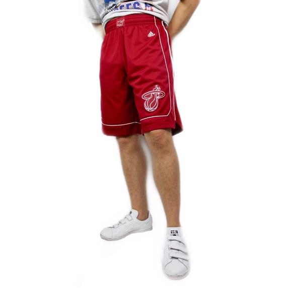 low priced 3e5b2 51e66 adidas Other - Adidas NBA Official Miami Heat Basketball Shorts